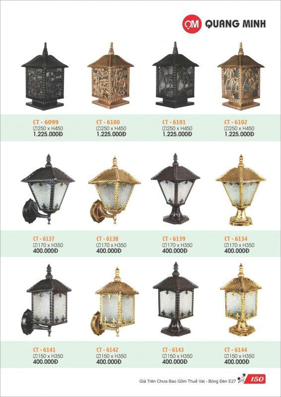 đèn trụ cổng Quang Minh